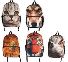 Rucksack/backpack Mochila Escolar corto viaje de vacaciones surfista Gato, Perro, Con Dibujo De Búho, Eagle, Tiger