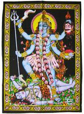 KALI Maa Kali Wandbehang Stoffbild Pailletten Hinduismus Muttergöttin Parvati