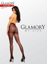Glamory AMORE 20 - Strumpfhose mit Naht Gr. 40-58 schwarz