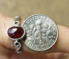 Dark Garnet Sterling Silver Ring Varied designs and Sizes Rich Red Gemstone