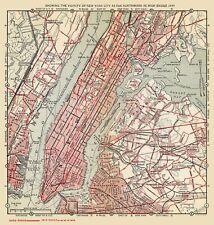 Old Railroad Map - New York City Northward to High Bridge - 1894 - 23 x 24.19