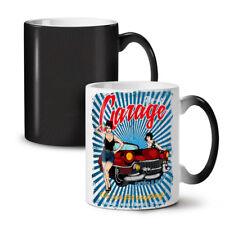 Pin Up Car Garage NEW Colour Changing Tea Coffee Mug 11 oz | Wellcoda