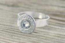 270 Caliber Nickel Bullet Adjustable Ring Bullet Jewelry Rifle Custom FREE SHIP