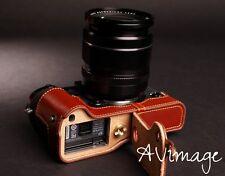 [TP] EZ Access Camera Bag Half Case for Fujifilm X-T1 Fuji XT1 Genuine Leather