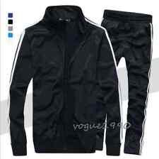 New Men's 2 PCS Sports Suit Zippered Coat+Pants Tracksuit Sweat Suit Plus size