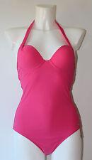 Marc O`Polo Badeanzug Neckholder Gr. 36 A bis 44 C formgebende Bügelcups Pink