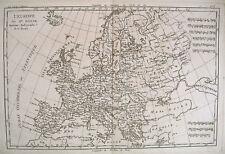 1780 Genuine Antique map of Europe by Rigobert Bonne