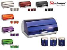 Gems Metallic Bread Bin and Canisters - Orange Red Silver Green Black Purple Blu