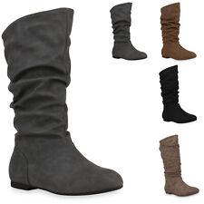 895838 Klassische Damen Stiefel Langschaft Winter Schuhe Mode