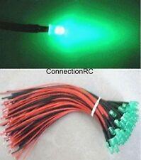 LED Light 3mm 6v - 12v x 5 - various colours