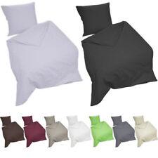Bettwäsche 3 tlg Set 200 x 200 cm 100% Baumwolle mit Reißverschluss