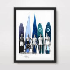 Vintage Surf planches de surf surfeur Art Imprimé Poster Waves A4A3A2 Mur photo