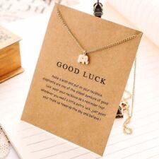 Kette Elefant Halskette Baby Elefant Good Luck Geschenk Neu Gold