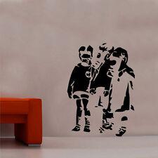 Banksy masque à gaz Enfants Decal Autocollant Mural Vinyle Art Graffitti street