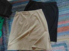 Vintage Short Skirts 2 Ny & Co S Large-Beige & Black-1 Bentley S 12-Black