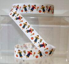 "Scarecrows Farm Printed Grosgrain Ribbon 25mm (1"") wide 1 2 5m lengths"
