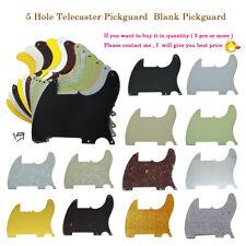 Various colors 5 Hole Tele Blank Pickguard Scratch Plate fits Fender Esquire