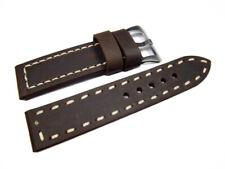 Uhrenband mit Breitdorn - extra starkes Leder- braun - 22,24,26 mm