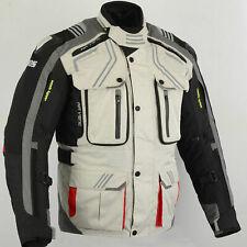 Herren Motorradjacke, Biker Textiljacke mit CE Rüstung, Größe S-5XL