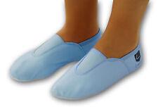 Schläppchen, Gymnastikschuhe, Ballerina mit Gummipads hellblau