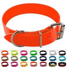 Halsband 38mm BioThane Edelstahl Messing Rollschnalle Aufdruck Halsung Hund L XL