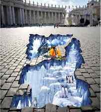 3D Skifahren Penguin 290 Fototapeten Wandbild Fototapete BildTapete Familie DE