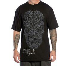 SULLEN CLOTHING FILIGREE BADGE BLACK TATTOO INK SKULL PUNK GOTH T SHIRT S-5XL