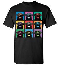 Labrador Retriever Pop-Blocks T-Shirt - Men Women Youth Tank Long Tee Black Lab