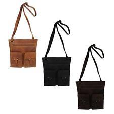 Damen Vintage Retro LEDER Tasche Umhängetasche Messenger Schultertasche it- Bag