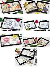 HOFF INTERIEUR - plateaux style rustique imprimé fleurs oiseaux - très décoratif