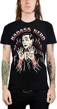 Too Fast Badass nerd Men motivo t-shirt-negro rockabilly