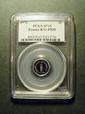 1976 FRANCE PIEFORT 1/2 CENTIME PCGS SP65 - MINTAGE:200