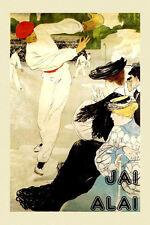 Jai Alai Fashion World's Fastest Sport 170 m.p.h Vintage Poster Repro FREE S/H
