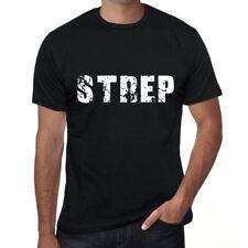 strep Hombre Camiseta Negro Regalo De Cumpleaños 00553