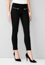 Alta Calidad Ponte cremallera Stretch Legging Fashion Leggings Pantalones Talle 6 - 20