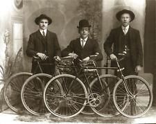 Old Calumet Bicycles Three Dudes In Hats Vintage Bicycling Bike Tires Michigan