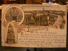 cpa luxembourg luxemburg vues de la ville souvenir