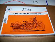 Harley 45 Flathead Complete Motor Gasket Kit w copper head gaskets 17026-40 (363