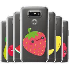 dessana Süße Früchte TPU Silikon Schutz Hülle Case Handy Tasche Cover für LG
