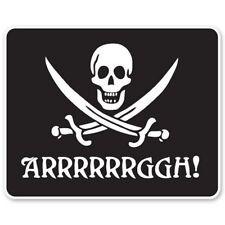 Arrrghh Jolly Roger Pirate Car Vinyl Sticker - SELECT SIZE
