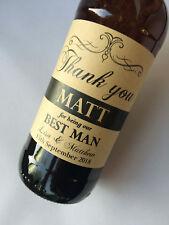 Personalised Thank you Wedding Best Man Usher Kraft Wine Beer Bottle Label Gift