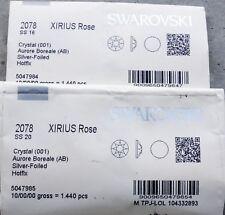 Strass termoadesivi hotfix Swarovski Crystal AB (aurora boreale) SS16 ed SS20