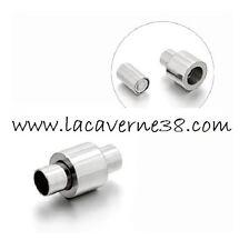 Fermoir magnétique acier inoxydable 3 modèle colonne résille tubulaire Buna cord