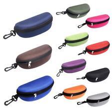NEW Portable Zipper Eye Glasses Sunglasses Clam Shell Hard Case Protector TR