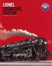 2010 LIONEL TOY TRAINS SIGNATURE VOLUME 1 CATALOG  MINT