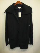 NWT Michael Kors Black Longsleeve Sweater / Jacket QF06085G82