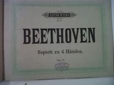 piano duet BEETHOVEN Septett VON WEBER Ouverturen ANTIQ
