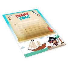 Thank You Pads A5 x 20 Sheets Childrens Blank Kids Boys Girls - Pirate