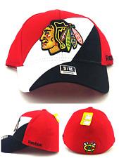 Chicago Blackhawks New Reebok Triple Stack Black White Red Flex Fit Era Hat Cap
