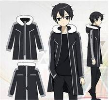 Sao Sword Art Online Kirito Kazuto Kirigaya Fleece Coat Jacket Cosplay Costume